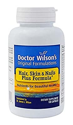Dr Wilson's Original Formulations Hair, Skin and Nails Plus Formula Nutritional Supplement, 100 Count