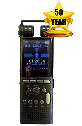 Cellphone and Landline Call Recording | Digital Voice Sound Recorder | For Smartphone and Celphone | Phone Audio Recorders | 50 Year Warranty ()