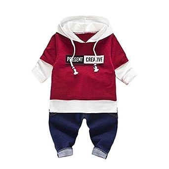 94f405d2bdfa Amazon.com  mommy   more 2Pcs Infant Toddler Baby Boys Clothes Long ...