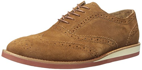 Polo Ralph Lauren Men's Johnsly Suede Oxford, New Snuff, 10 D US