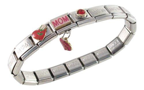 Mom Italian (Mom Italian Charm Bracelet for Birthday Valentine's Day Christmas)