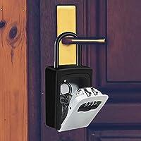 Gris HUSAN Caja de cerradura de llave almacenamiento segura de llave exterior montada en la pared para llaves de casa de repuesto de garaje para el hogar