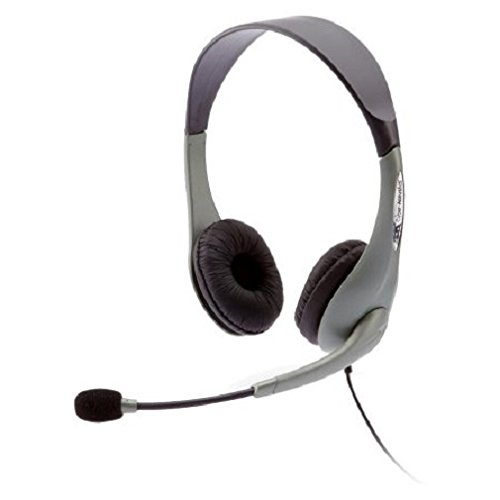 New Cyber Acoustics AC-851B USB Stereo Headset Over-The-Head 180 Degree Microphone Ambidextrous