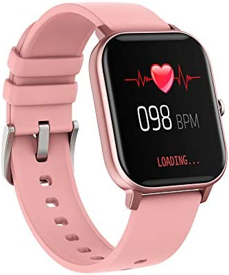 AMATAGE Smart Watch for Android Phones iPhone for Men Women, Fitness Tracker Watch with Heart Rate Monitor , Waterproof Activity Tracker with Sleep Monitor(Pink) 41HBWz5WdbL