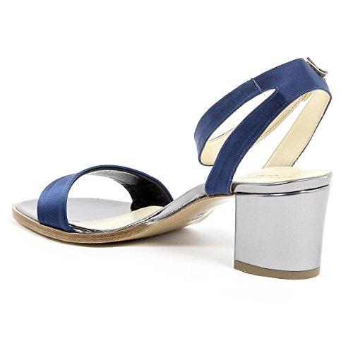 V 1969 Italia Womens Ankle Strap Sandal Blue Anna