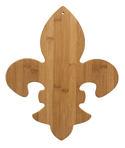 De Fleur Blocks Lis - Totally Bamboo Fleur De Lis Shaped Bamboo Cutting & Serving Board, 15.25-Inch Long