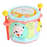 LIPENG-TOY Children's Animal Music Drums Bats Hand Drums Baby Puzzle Story Large Carousel Pat Clap Toys (Color : Multi-Colored)