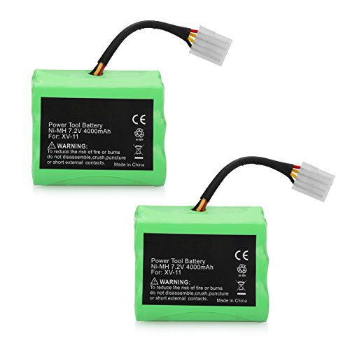 (ANTRobut 2 Pack 4000mAh 7.2V Neato Battery Replace For Neato XV-11 XV-12 XV-14 XV-15 XV-21 XV-25, XV Essential, XV Signature Pro Robotic Vacuum Cleaners Replacement Neato Battery 945-0005 205-0001)