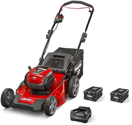 Snapper XD 82V MAX Electric Cordless 21-Inch Lawnmower Kit with 2 2.0 Batteries 1 Rapid Charger, 1687884, SXDWM82K