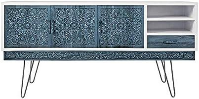 PrimeMatik Pies para Mesa y Mueble Patas en Acero 3 Varillas 71 cm 4-Pack