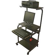 "Narrow Computer & Laptop Cart - 24"" W - CUZZI STS-5801-A"
