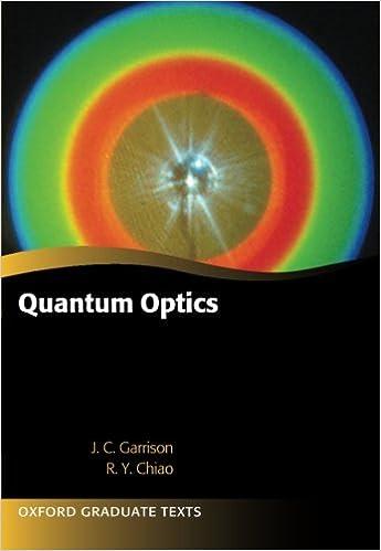 Amazon com: Quantum Optics (Oxford Graduate Texts