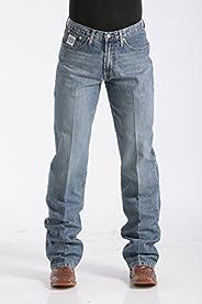 Calça jeans masculina Cinch com etiqueta branca e ajuste folgado - Mb92834013