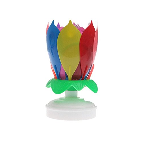 Langcal Happy Birthday Cake Topper Candle Music Birthday Candle (1, Multicolor)
