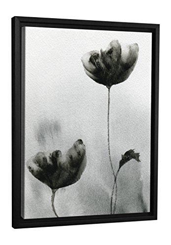 (JP London FCNV0020 Black White Wilted Flower Tulip Framed Canvas Art Wall Decor, 26.37