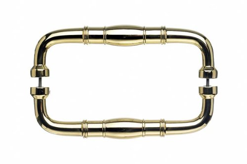 Normandy Back to Back Door Pull - Polished Brass (TKM840-8 (Polished Brass M840 Top Knobs)