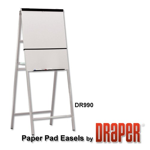 DR990 Heavy Duty A-Frame Paper Pad Easel w/ Dry-Erase Writing Panel by Draper Inc