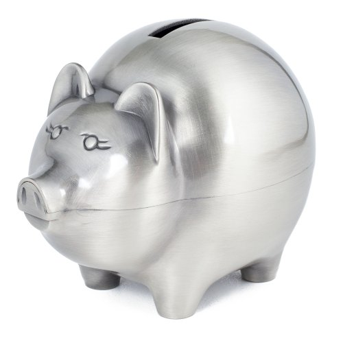 Classic Piggy Bank - Non Tarnish Brushed Pewter by Creative ()