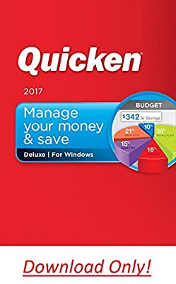 Quicken Deluxe 2017 Personal Finance & Budgeting Software (DOWNLOAD) Windows version