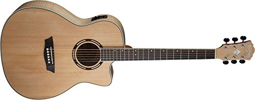 Washburn AG40CEK Nat. Grand Auditorium Spruce Top Flame Maple B/S Acoustic-Electric Guitar by Washburn