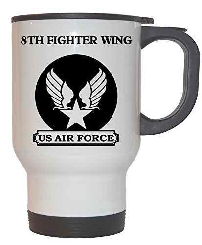 8th Fighter Wing - US Air Force White Stainless Steel Mug, 1026