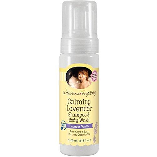 Earth Mama Angel Baby Calming Lavender Body Wash & Shampoo, Natural Lavender Vanilla, 5.3 fl. oz.