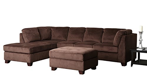 Sectional sofas couches for Abbyson living delano sectional sofa and storage ottoman set