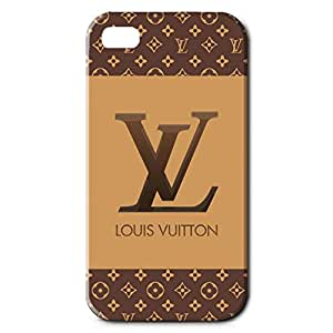 Unique Design Louis and Vuitton Series 3D Hard Plastic Case Cover Snap on Iphone 4 Louis and Vuitton Style