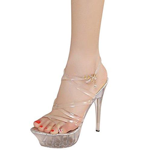 Fereshte Vrouwen Enkelband Kristal Platform Sandaal Pomp Schoenen