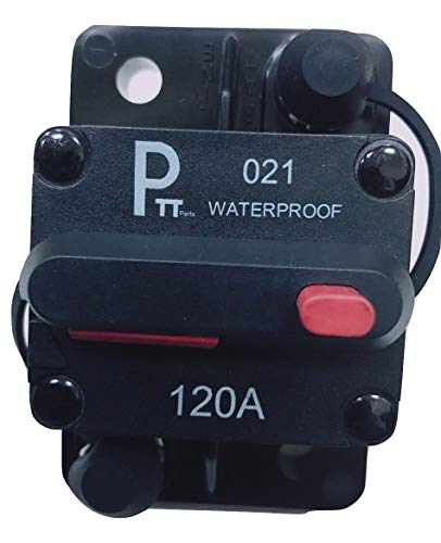 Photo-Top 25A-150A Hi-Amp Circuit Breaker T3+Switch with Manual Reset, Water Proof ()