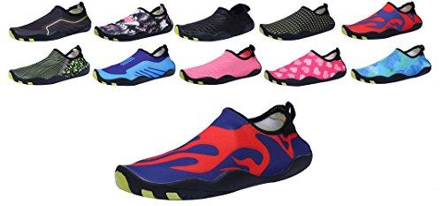 Sami Studio Hommes Et Chaussures De Leau Des Femmes Léger Durable Rôle Aqua Chaussures Adaptées Pour La Conduite De La Natation Canotage Yoga Plage Surf Redflame
