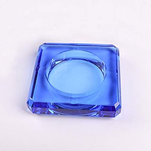 High-end crystal square straight pineapple noodle ashtray office creative European style home