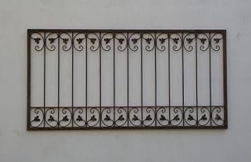 Fer Forgé Fer Clôture de clôtures Monaco de Z120/150 Rouille: Amazon ...