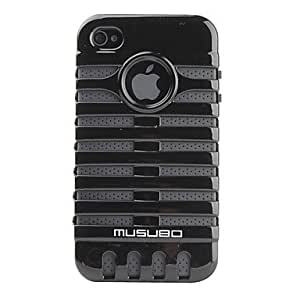 SUMCOM Removable beetle design hard case for the iPhone 4 and 4 s (various colors) , Gray