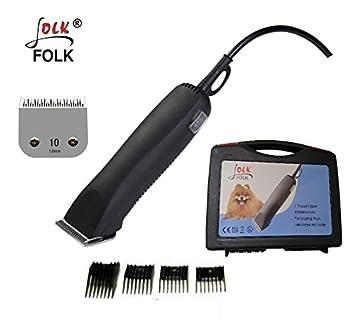 Folk Peladora esquiladora Profesional Modelo FL4 - Doble Velocidad - 45w Perros, Caballos, Gatos cortapelo - Cuchillas compatibles con la Serie A5: ...