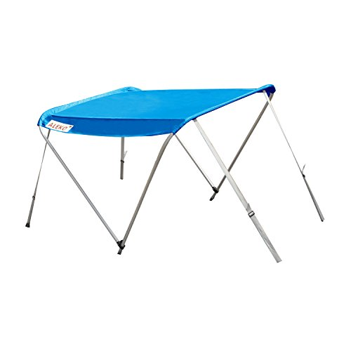 ALEKO BSTENT420B Summer Canopy Boat Tent Sun Shelter Sunshade for Inflatable Boats 6 x 5 Feet Blue