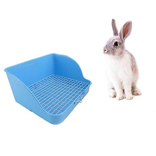TOOGOO Pet Rabbit Toilet Plastic Rabbit to Clean Rabbit Toilet Buckle Design, not Easy to Loose