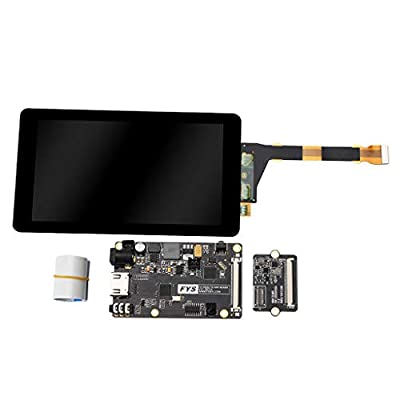 B Blesiya 2K 5.5inch LCD Display Module + HDMI to MIPI Driver Board + Flex Flat Cable Assembly Kit for Reprap 3D Printer/VR/Projector