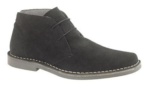 Roamer M420 nero Suede uomo nuovo Desert stivali scarpe d0ee52a0227