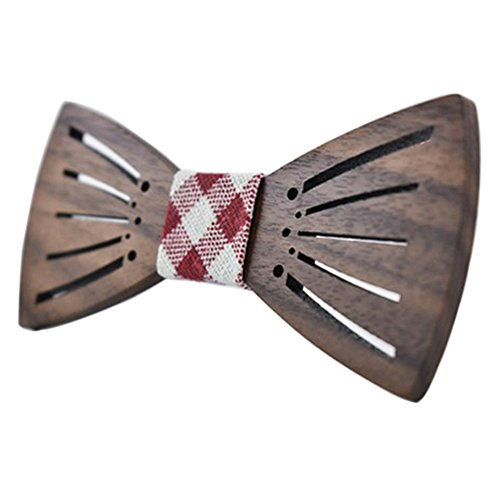 Multi Bowties - Luxsea Men Wooden Bow Tie Gifts Fashion Wedding Wood Tuxed bowtie Necktie Multi Tie New