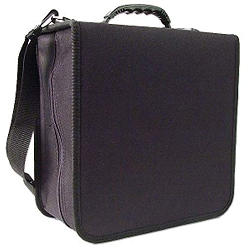 288 Capacity CD/DVD Carrying Case - Black - with New and Improved Inserts, double the thickness and all tabs pulled