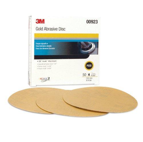 3M 00923 Hookit Gold 6'' P600A Grit 216U Paper Disc