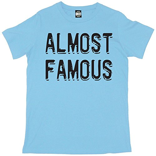Batch1 Men's Almost Famous Celebrity Fame Printed T-Shirt X-Large Light Blue (Fame Light T-shirt)