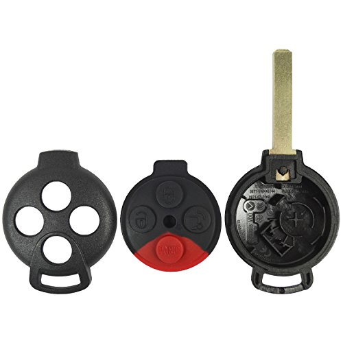 QualityKeylessPlus Replacement Remote Head Key 4 Button Case and Pad for Mini FCC ID KR55WK45144