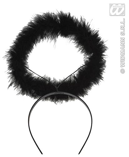 Halo Marabou Black Or Red Accessory for Fancy Dress by WIDMANN S.R.L. (Red Marabou Halo)