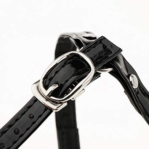Cheville De Pièces Sangles Chaussure P 23 12 Courroie Amovibles Longue Noir Prettyia Cm 2 Courte Verni À 5 1xwqqXHn