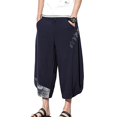 Comfy-Men Folk Style Plus Size Tenths Pants Baggy Casual Har