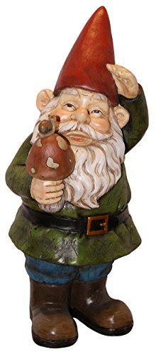 (Garden Gnome Holding Mushroom)