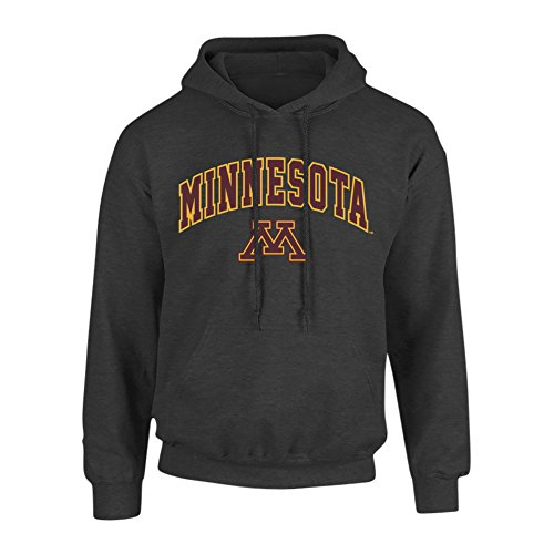 Minnesota Golden Gophers Hooded Sweatshirt Arch Charcoal - XXL