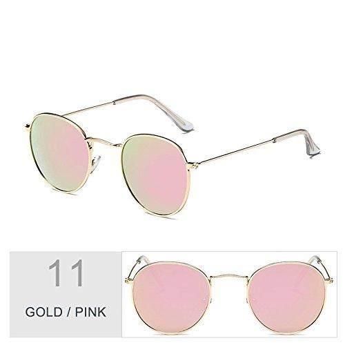 Gafas Mujeres Metal Del Gafas De TIANLIANG04 Uv400 Plata Bastidor Sol Sol Enormes Gold Oval Pink Steampunk Unas Hombres Morado De Para En FqxaxPYw